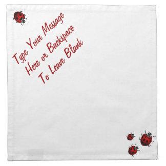 Ladybug Napkins Ladybird Personalized Napkins