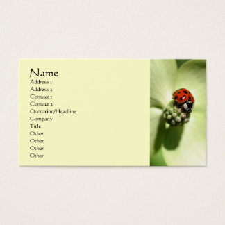 Ladybug Nature Photography Business Card