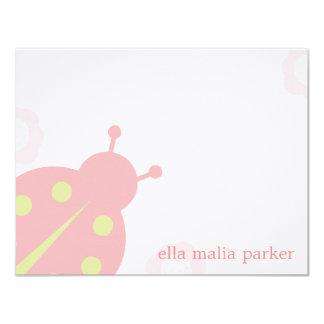 Ladybug Note Card /Flat Thank You Card 11 Cm X 14 Cm Invitation Card