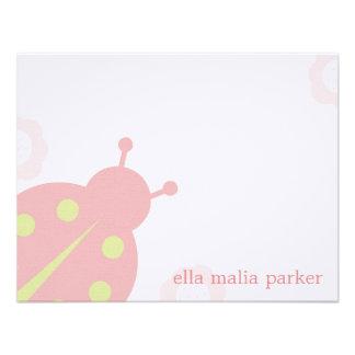 Ladybug Note Card Flat Thank You Card Invitations