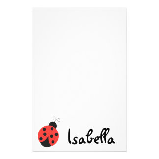 Ladybug Notepad Customized Stationery