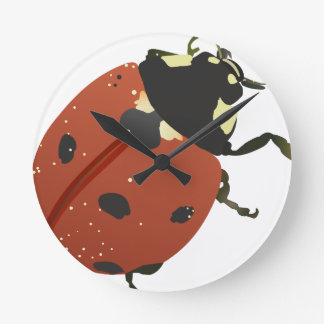 LadyBug Office Home  Personalize Destiny Destiny'S Round Clock