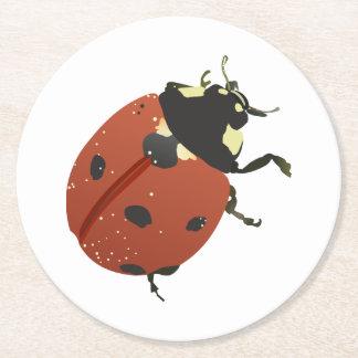 LadyBug Office Home  Personalize Destiny Destiny'S Round Paper Coaster