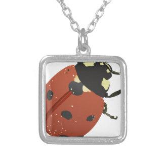 LadyBug Office Home  Personalize Destiny Destiny'S Silver Plated Necklace