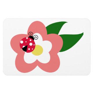 Ladybug on a flower clipart vinyl magnets