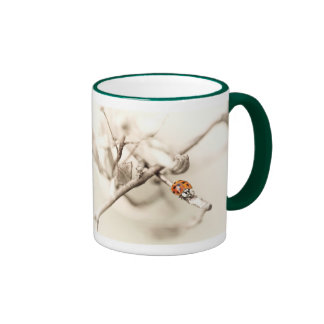 ladybug on branch mugs