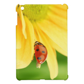 Ladybug on sunflower iPad mini cases