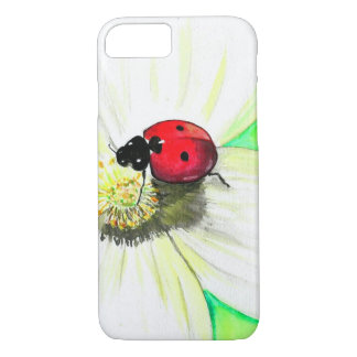 Ladybug on White Flower iPhone 8/7 Case