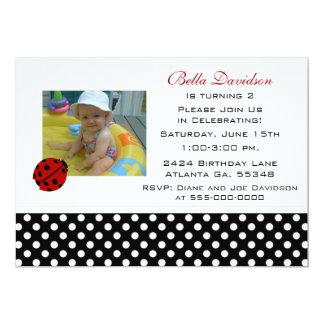 Ladybug Party Invitation