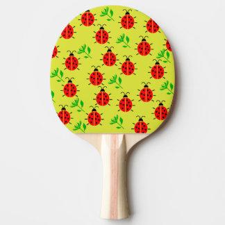 Ladybug Pattern Ping Pong Paddle