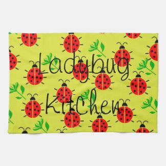 Ladybug Pattern Tea Towel