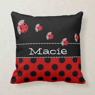 Ladybug Personalized Accent Pillow