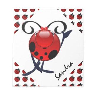 Ladybug personalized notepads