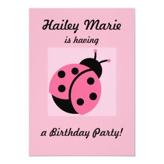 Ladybug Personalized Party Invitations