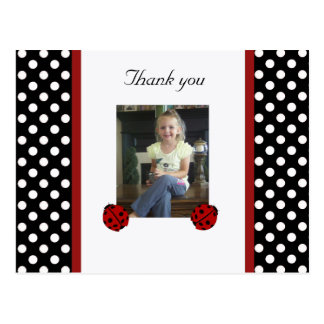 Ladybug: Picture: Thank You Postcard