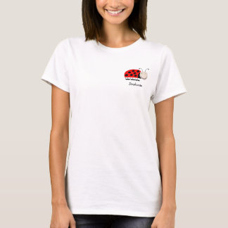 Ladybug Pocket Design Tee Shirt Just Add Name