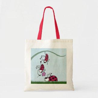 Ladybug Professing His Love Tote Bag