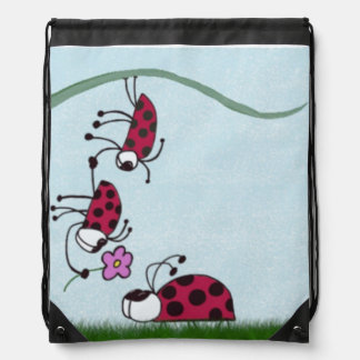 Ladybug Professing His Love Drawstring Backpack