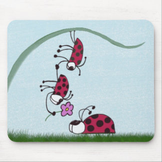 Ladybug Professing His Love For His Sweetheart Mouse Pad