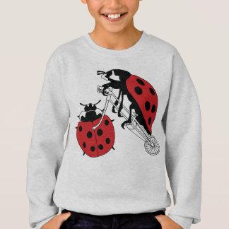 Ladybug Riding Bike With Ladybug Wheel Sweatshirt