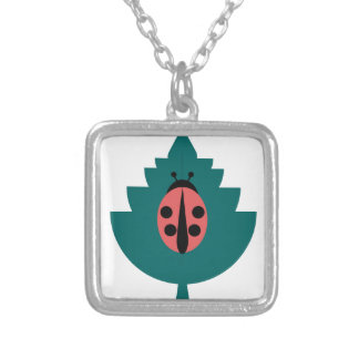 Ladybug Silver Plated Necklace