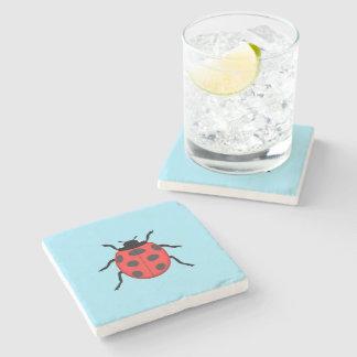 Ladybug Stone Beverage Coaster