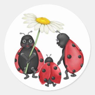 Ladybug Stroll Stickers