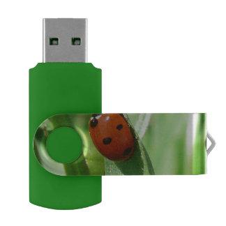ladybug swivel USB 2.0 flash drive