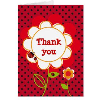 Ladybug thank you card