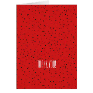 Ladybug  Thank You Greeting Cards
