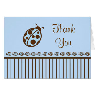 Ladybug Thank You Card