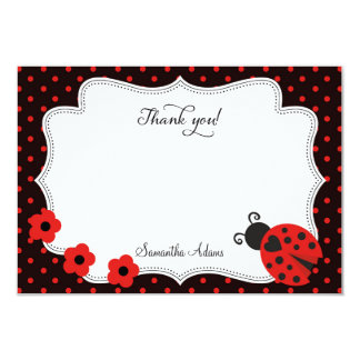 Ladybug Thank You Card 9 Cm X 13 Cm Invitation Card