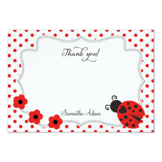 "Ladybug Thank You Card 3.5"" X 5"" Invitation Card"