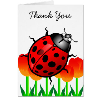 Ladybug thank you greeting card