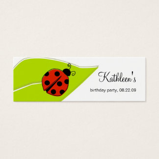 Ladybug Thank You Tags Mini Business Card