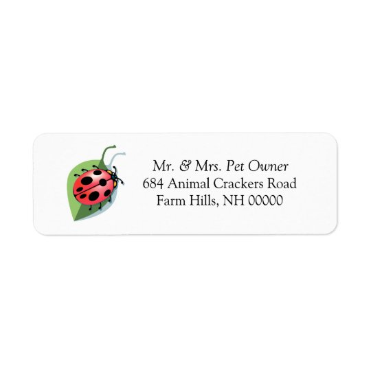 Ladybug Theme Return Address Labels Stickers