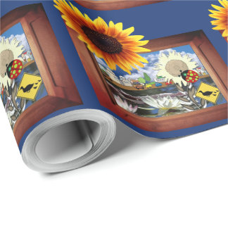 Ladybug Town Wrapping Paper