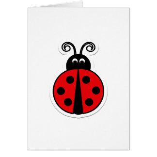 Ladybug Valentine Greeting Card