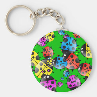 Ladybug Wallpaper Key Ring