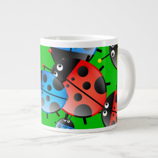 Ladybug Wallpaper 20 Oz Large Ceramic Coffee Mug