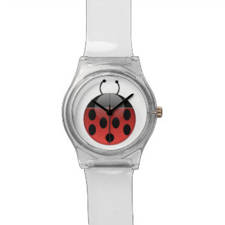 Ladybug Watch With Clear Bands
