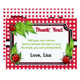 Ladybug with Polka Dots | Thank You Cards 9 Cm X 13 Cm Invitation Card