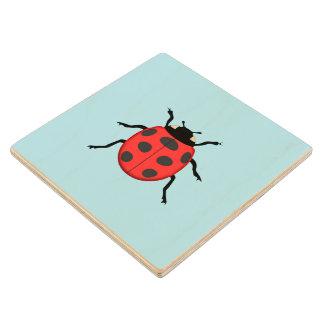 Ladybug Wood Coaster