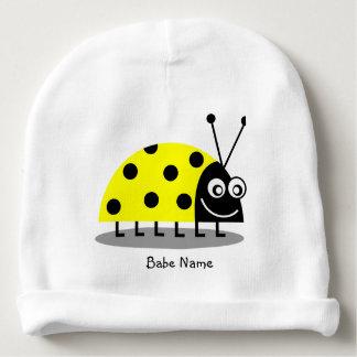 Ladybug Yellow Baby Beanie