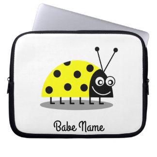 Ladybug Yellow Laptop Sleeve