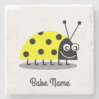 Ladybug Yellow Stone Beverage Coaster