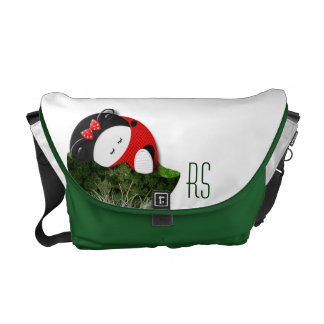 Ladybugette monogrammed courier bags