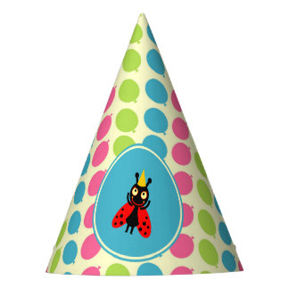 Ladybugs and balloons children Birthday Party Party Hat