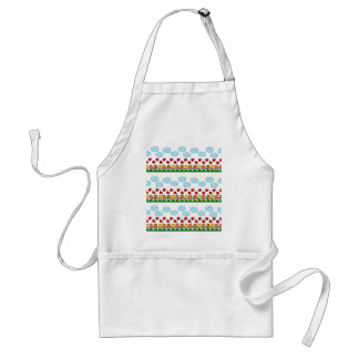 Ladybugs and flowers pattern standard apron