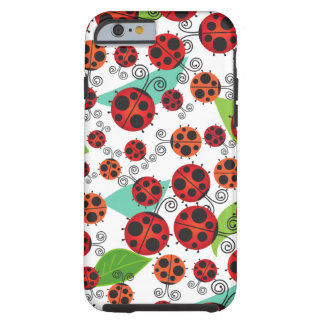 Ladybugs and Leaves Tough iPhone 6 Case
